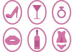 Bachelorette Party Icon Vectors