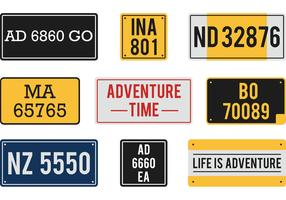 Free Vector License Plates