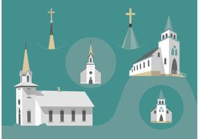 Country Church Free Vectors