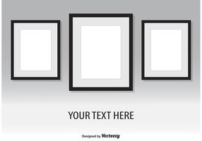 Vector Wall Frames Illustration