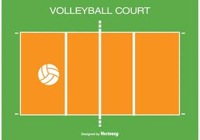 Volleyball Court iIllustration