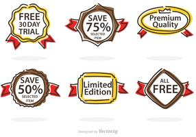 Cartoon Promo Badge Vector