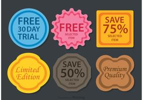 Colorful Promo Badge Vectors