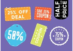 Colorful Scissors Coupon Vectors