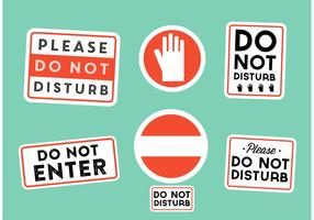 Do Not Disturb Signs Vectors