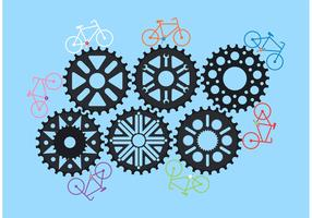Bike Sprocket Vector Gears