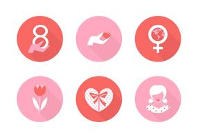 Free Women's Day Vector Icons
