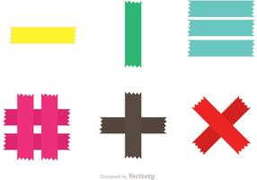 Colorful Sticky Tape Vectors