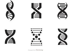Set Of Doble Helix Icons Vector