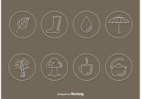 Autumn Vector Line Icons