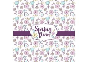 Spring Flora Pattern Design