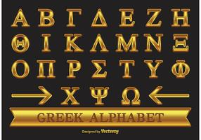 Gold Greek Alphabet