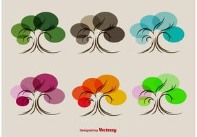 Seasonal Stylized Tree Vectors