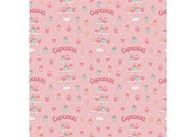 Free Cupcake Stand Seamless Pattern Vector