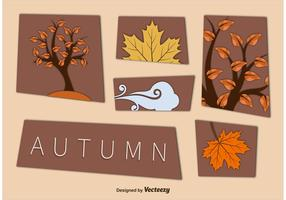 Autumn Cut Out Vector Elements