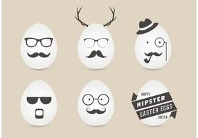 Free Male Hipster Easter Eggs Vector