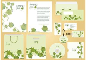 Ivy Vine Identity and Profile Template Vector