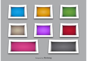 3D Shelves and Frame Vectors
