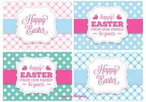 Cute Easter Vector Labels