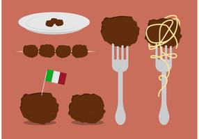 Free Meatball Vector Set