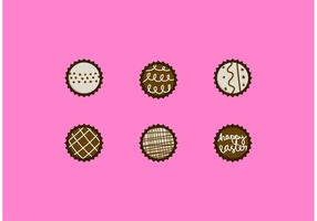 Chocolate Truffle Vector Designs Set