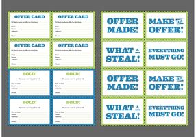 Yard Sale Cards Free Vector
