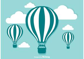 Hot Air Balloon Vector Illustration
