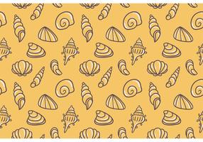 Yellow Free Pearl Shell Vector Pattern