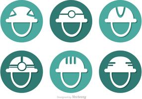 Helmet Circle Icons Vector
