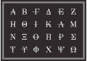 Free Greek Alphabet Uppercase Vector