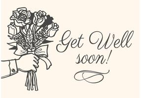 Free Drawn Get Well Soon Vector Card