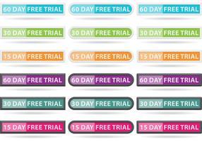 Free Trial Button Vektoren