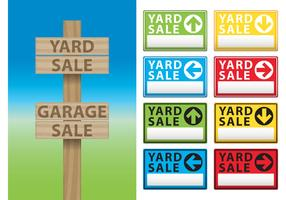 Yard Sale Billboard Vectors