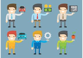 Cartoon Worker Vectors