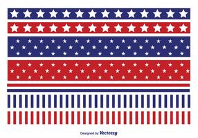 Patriotic Vector Border Set