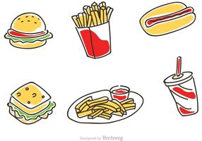 Fast Food Cartoon Vector