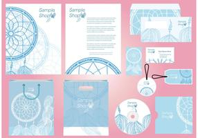 Dreamcatcher Profile Template Vector
