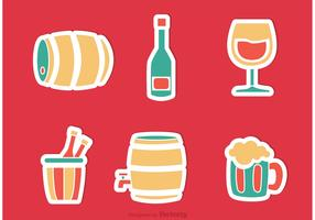 Alcohol Sticker Vectors