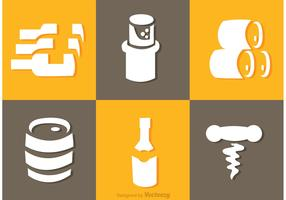 White Whiskey Icons Vector