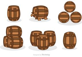 Whiskey Barrel Set Vector