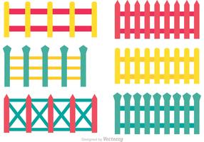 Colorful Fence Vectors