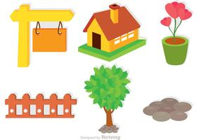 Set Of Garden Icons Vectors