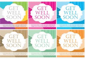 Get Well Soon Scrapbook Vector Cards
