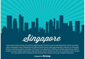 Singapore Skyline Illustration
