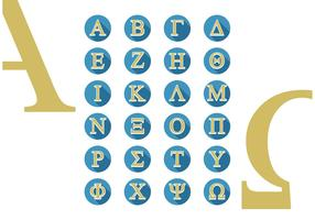 Greek Alphabet All Caps Vector Free