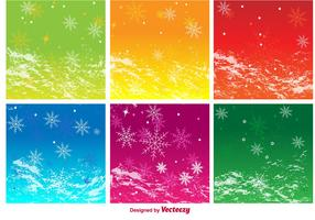 Seasonal Background Vectors
