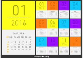 Vector Calendar 2016 Minimal Style