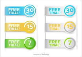 Free Trial Vector Buttons