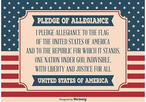 Pledge of Allegiance Illustration