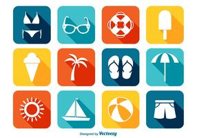 Bright Summer Icon Set